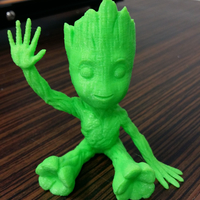 Small baby groot sitting waving 3D Printing 24041