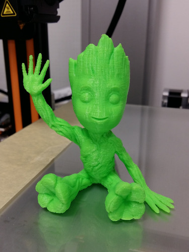 baby groot sitting waving 3D Print 24042