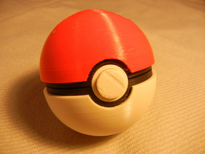 Pokeball (opens and closes) 3D Print 2412