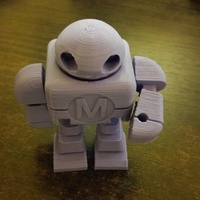 Small Mini Maker Faire Robot Action Figure 3D Printing 2419