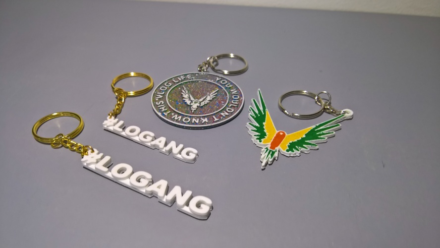 Maverick and #logang keychain 3D Print 24201
