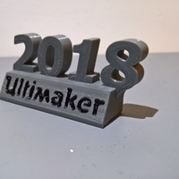 Small Ultimaker 2018 decoration 3D Printing 24405