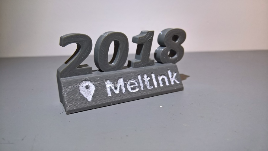 Meltink 2018 decoration 3D Print 24429