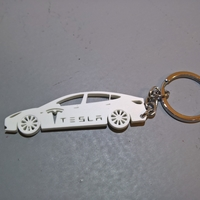 Small Tesla Model 3 keychain 3D Printing 24458