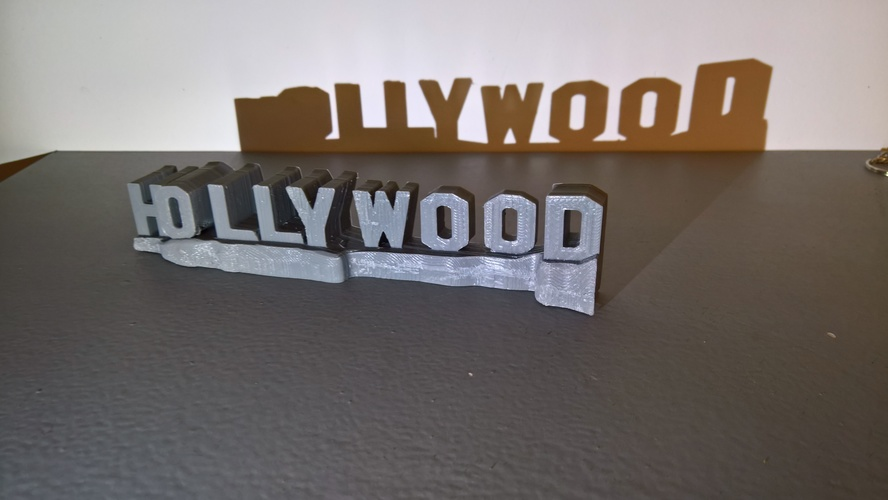 HOLLYWOOD sign 3D Print 24464