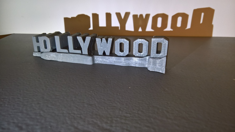 HOLLYWOOD sign 3D Print 24465