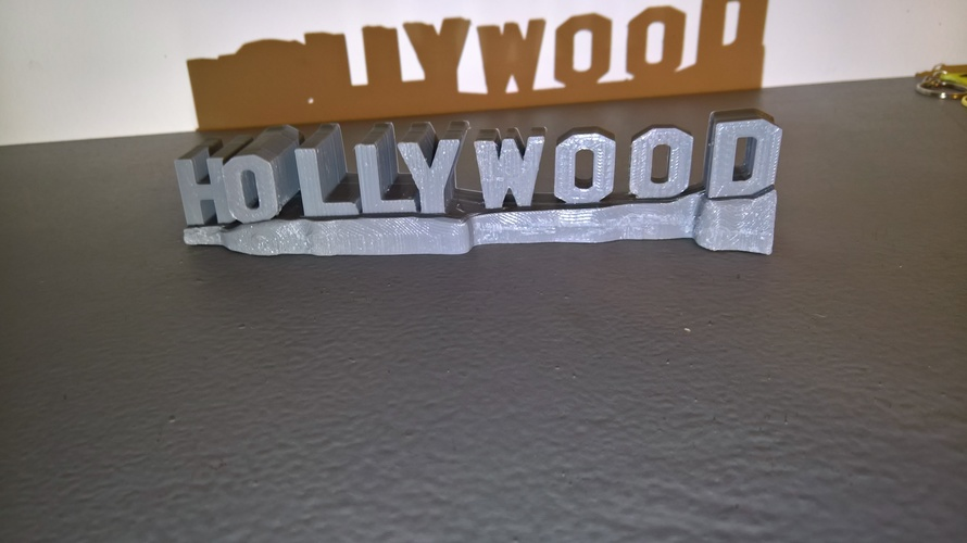 HOLLYWOOD sign 3D Print 24466