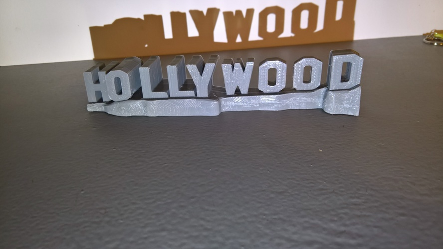 HOLLYWOOD sign 3D Print 24467
