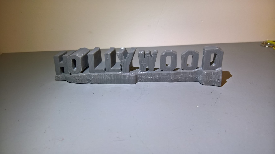 HOLLYWOOD sign 3D Print 24468