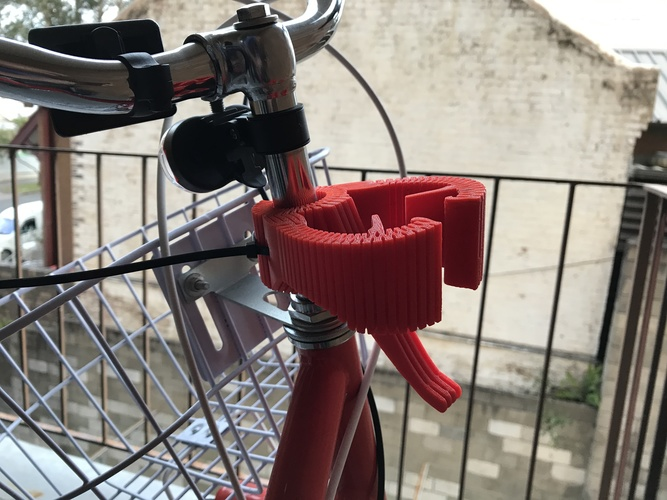 Smartphone Flexible Mount for Bike 3D Print 24501