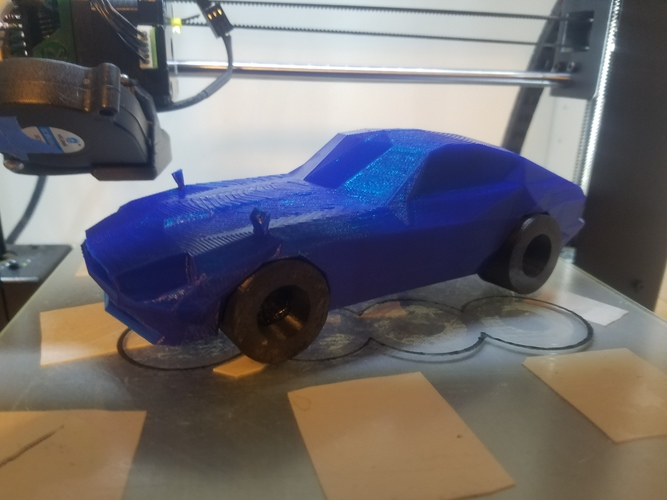 Low-Poly 1972 Datsun 240z 3D Print 24597