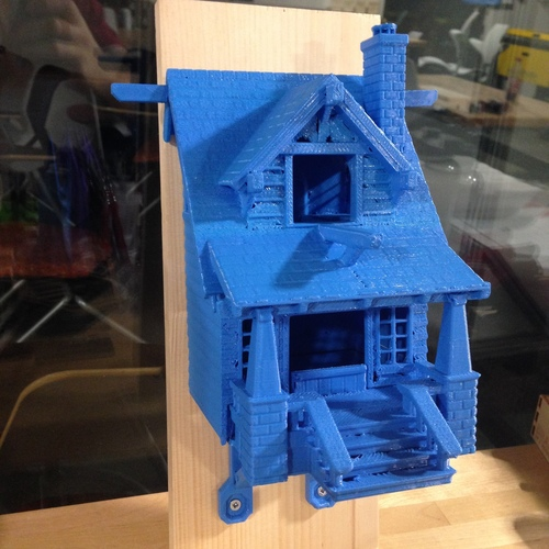 the American Craftsman Bungalow Birdhouse 3D Print 24628