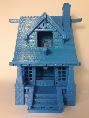the American Craftsman Bungalow Birdhouse 3D Print 24629