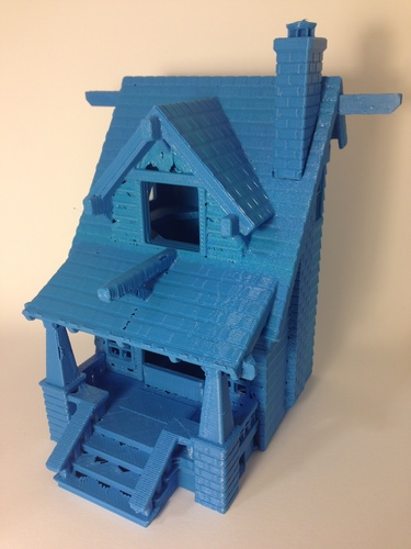 the American Craftsman Bungalow Birdhouse 3D Print 24630