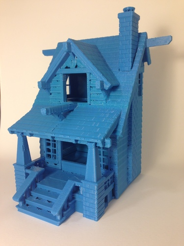 the American Craftsman Bungalow Birdhouse 3D Print 24631