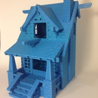 Small the American Craftsman Bungalow Birdhouse 3D Printing 24631