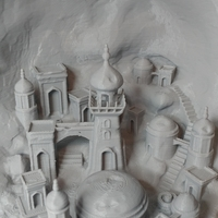 Small Moon city 3D Printing 24649