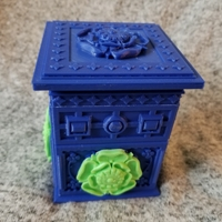 Small The Tudor Rose Box (with secret lock) 3D Printing 24657