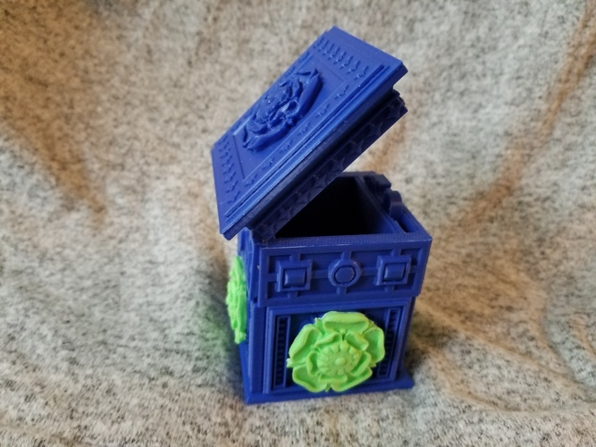 The Tudor Rose Box (with secret lock) 3D Print 24658