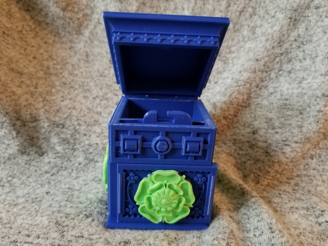 The Tudor Rose Box (with secret lock) 3D Print 24659