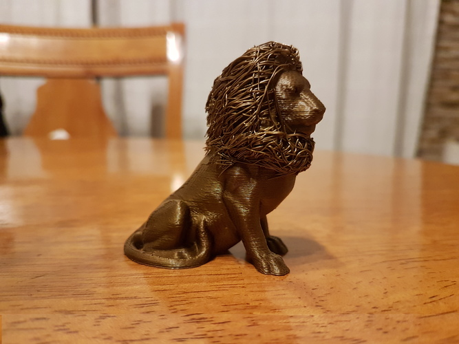 lion with hair 3D Print 24678