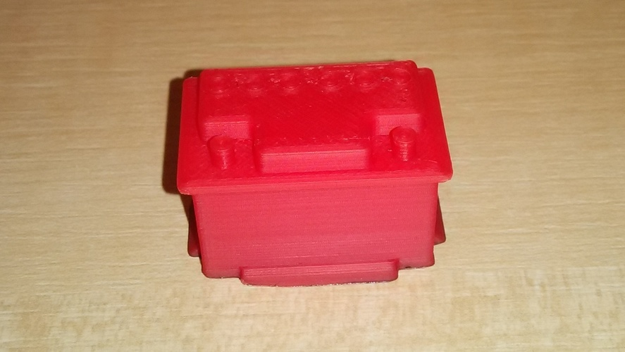Scale 1/10 12V car battery 3D Print 24702