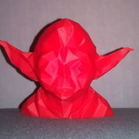 Small Low Poly Yoda 3D Printing 24707