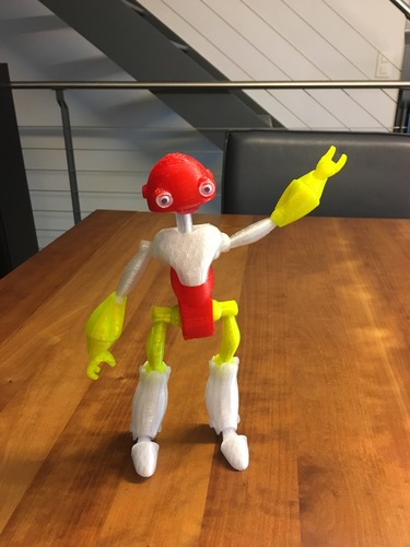 BeQui,  Jointed Robot 3D Print 24726
