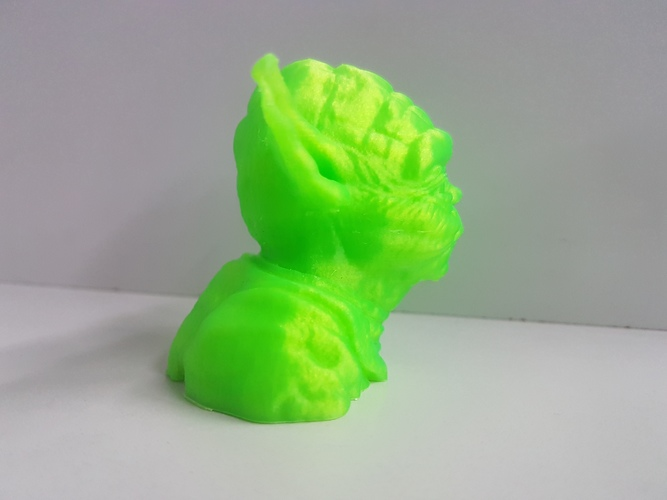 Yoda with Chin Support 3D Print 24791