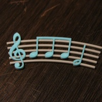Small Music pendant 3D Printing 248