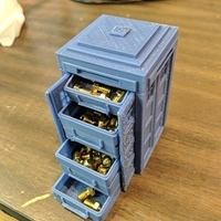 Small Tardis with drawers 3D Printing 24840