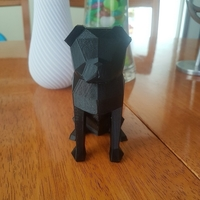 Small Low-poly Pug 3D Printing 24871