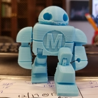 Small Mini Maker Faire Robot Action Figure 3D Printing 24894