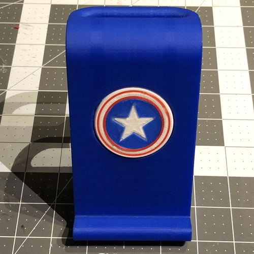 $10 IPhoneX Wireless Charging Stand - Captain America 3D Print 25021