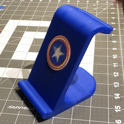 $10 IPhoneX Wireless Charging Stand - Captain America 3D Print 25022