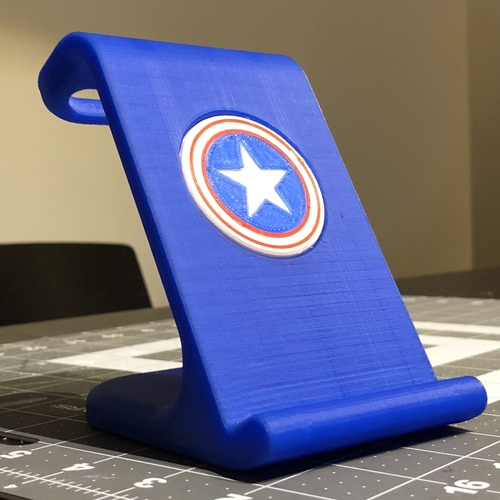$10 IPhoneX Wireless Charging Stand - Captain America 3D Print 25023