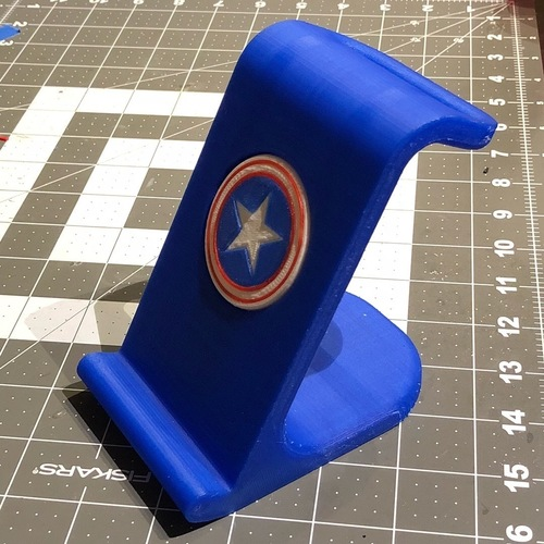 $10 IPhoneX Wireless Charging Stand - Captain America 3D Print 25024