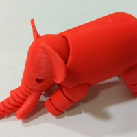 Small Elephant 3D Printing 25063