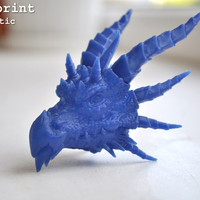 Small Dragon head 3D Printing 25165