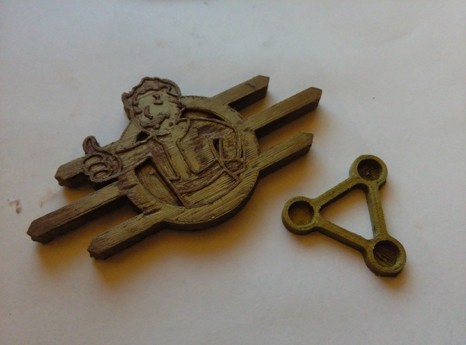 Fallout Badge Set 3D Print 2517