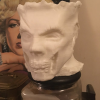 Small Zombie Head Candy Holder 3D Printing 25190