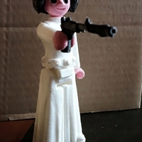 Small Princess leia 3D Printing 25210