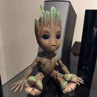Small baby groot with base 3D Printing 25218