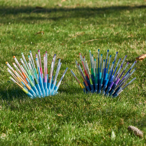 Peacock Gel Pen Stand 3D Print 25219
