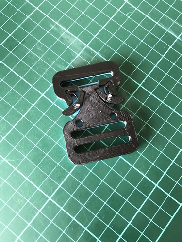 Quick Release Belt Buckle 3D Print 25282