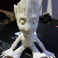 Small baby groot with base 3D Printing 25302