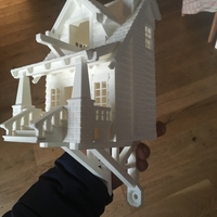 Small the American Craftsman Bungalow Birdhouse 3D Printing 25331