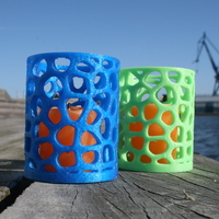 Small Voronoi tealight candel holder 3D Printing 2534
