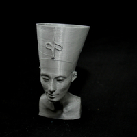 Small Nefertiti Bust [Hollow] 3D Printing 25341