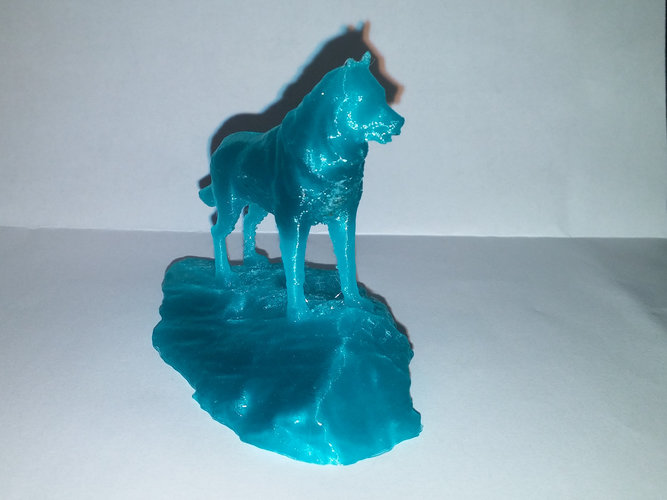 Husky Statue - Michigan Tech 3D Print 25401